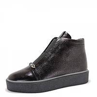 Кожаные ботинки. Черные.