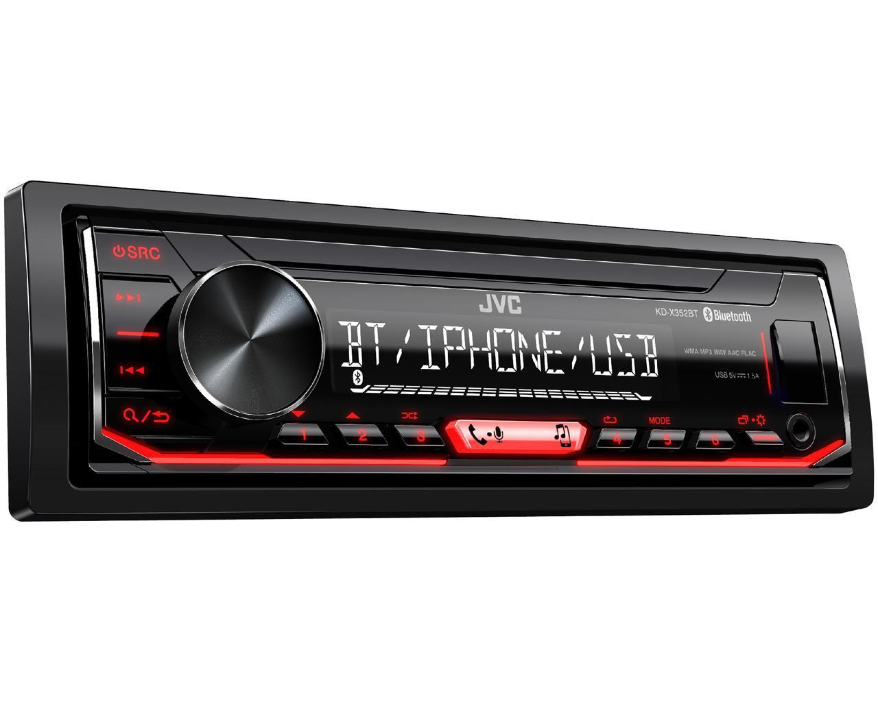 Автомагнитола JVC KD-X352BT USB, Bluetooth, 1 Din