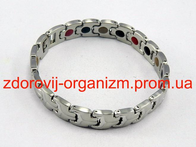 Магнитный Терапевтический браслет Бернард из нержавеющий стали ( родий, позолота) Вековой Восток