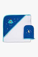 Детское полотенце-уголок и мочалка