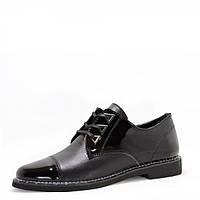 Лаковые туфли на шнуровке. Черные., фото 1