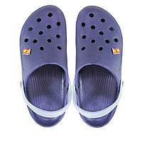 Мужские кроксы. Синие с серым. 116110.
