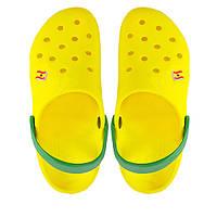 Мужские кроксы. Желтые с зеленым. 116113., фото 1