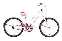 "Велосипед 20"" PRIDE ANGEL 2014 бело-розовый"