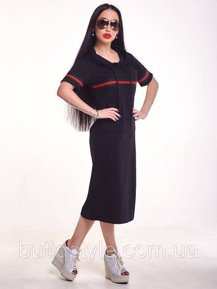 58e98398195 Женское спортивное платье свободного прямого кроя с лентой Гуччи с  капюшоном только белое