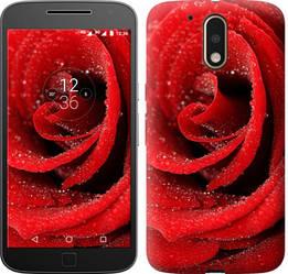 "Чехол на Motorola MOTO G4 Красная роза ""529c-511-328"""