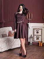 Красивое женское платье со стразами 44