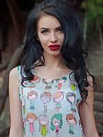 Нарядная блуза-майка Крошка