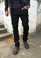 Джинсы мужские на байке Resalsa 3806 чёрные