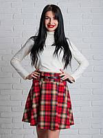 Молодежная пышная юбка в складочку