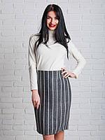 Женская теплая юбка по колено