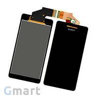 Дисплей Sony Xperia V LT25i черный (LCD экран, тачскрин, стекло в сборе)