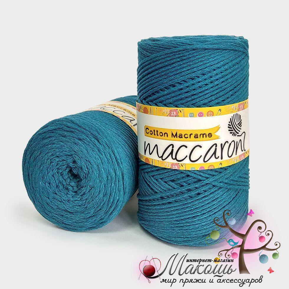 Пряжа Maccaroni Cotton Macrame Коттон Макраме, мор.волна