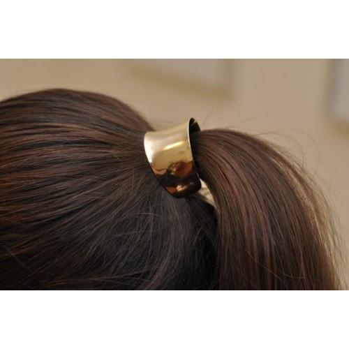 96e24cd97c0d Резинка для волос металлическая графит