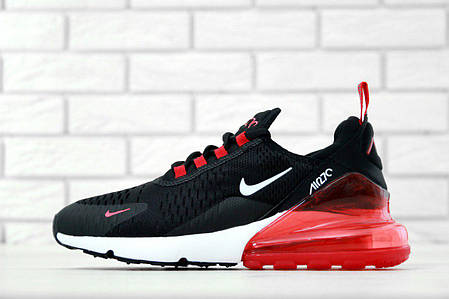 Кроссовки мужские Найк Nike Air Max 270 Black/Whiite/Red . ТОП Реплика ААА класса., фото 2