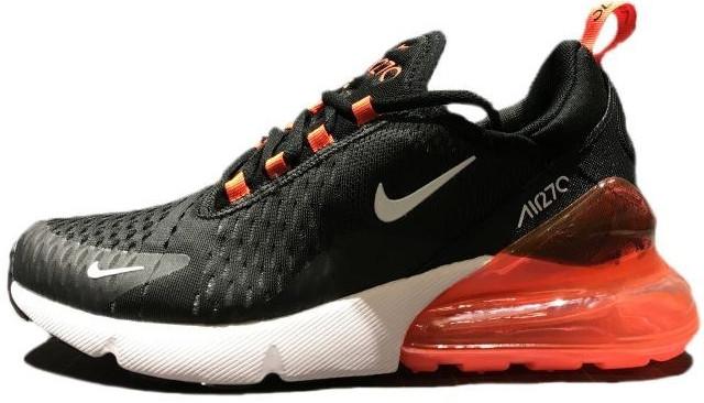 Кроссовки мужские Найк Nike Air Max 270 Black/Whiite/Red . ТОП Реплика ААА класса.