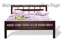 Кровать Альмерия 1,6, цвета: орех и каштан.Дерево Ольха
