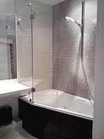 Перегородка из стекла на ванную