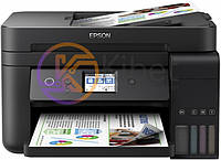 МФУ струйное цветное Epson L6190 (C11CG19404), Black, WiFi, 4800х1200 dpi, до 33/20 стр/мин, факс, дуплекс, ЖК экран 6,1 см, USB / Lan, встроенное