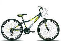 """Велосипед 24"""" PRIDE BRAVE 2014 черно-зеленый матовый"""