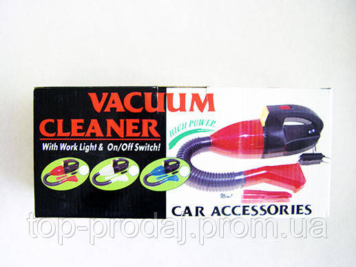 Пылесос автомобильный Vacuum Cleaner, Автомобильный пылесос 12B, Автопылесос, Пылесос для машины