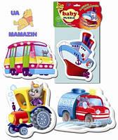 Беби пазлы Машины-помощники Vladi Toys