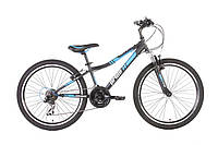 """Велосипед 24"""" PRIDE BRAVE 2014 черно-синий матовый"""