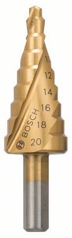 Східчасте свердло 4-20 мм HSS-TIN BOSCH