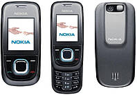 Корпус для телефона Nokia 2680s чёрно-бежевый с клавиатурой High Copy