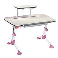 Детская парта Mealux Orion Pink с полкой (письменный стол), фото 1