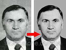 Якісна реставрація старих фотографій, відновлення поганої якості фото на пам'ятник у фотошоп Харків