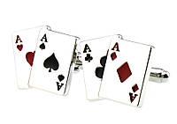 Запонки для любителей карточных игр    Два туза - их точно не стоит прятать в рукаве