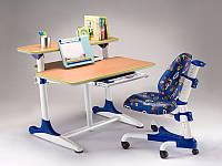 Детский стол парта Mealux Platon WB Beech с полкой