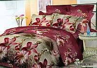 Полуторное постельное белье полиСАТИН 3D (поликоттон) 857901