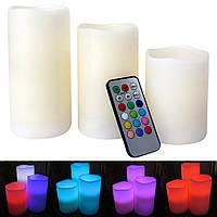 Ночник 3 свечи Luma Candles Color Changing, Комплект светодиодных свечей с ДУ,  Светильник 3 свечи