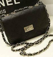 Сумка-клатч женская Chanel Multicolor black (черный)