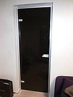 Двери из стекла в алюминиевой коробке