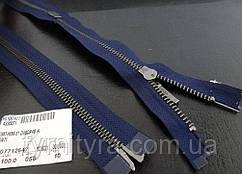 Металл YKK  ст.никель №5 2бег. 100cm 058 синяя