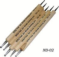 Дотс в наборе деревянная ручка 5 шт.