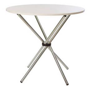 Стол Aqua chrome белый (Новый стиль ТМ)
