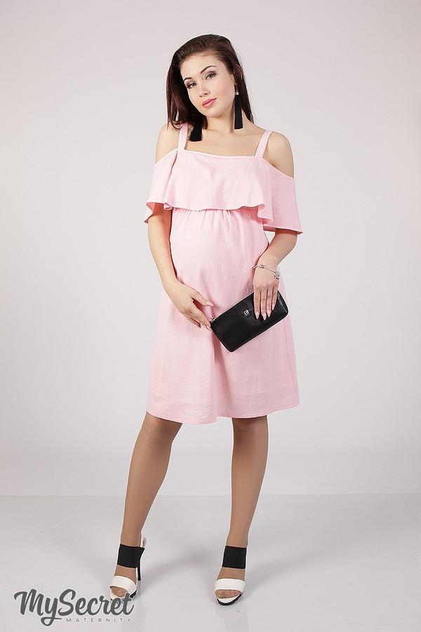 Сарафан для беременных и кормящих RINA SF-28.031 розовый