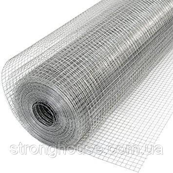 Сітка зварна штукатурна оцинкована Ø 0,6 12 мм х 12мм 1м х 30м