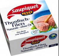 Saupiquet Rio Mare Thunfisch-Filets Naturale ohne Öl 185 г