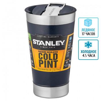 Термокружка с крышкой Stanley Classic (0.47л), синяя