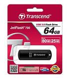 Флешка Transcend JetFlash 700, 16Gb USB 3.0., черная, фото 3