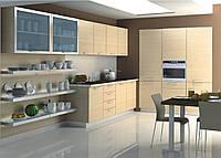 Деревянная кухня в современном стиле