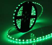 Світлодіодна стрічка LED на чорній основі, 12V, SMD5050, 60 д/м, зелений, фото 1