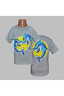 Футболка для девочек Дельфин от 1 до 8 лет