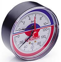 Термо-Манометр аксиальный 802A 10 bar, D=80мм, 1/2''