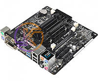 Мат.плата с процессором AsRock J3455-ITX, Intel Celeron J3455 (4x2.3 GHz), 2xDDR3 SO-DIMM, Intel HD 500, 4xSATA3, 1xPCI-E 1x, 1xM.2 (Key E для
